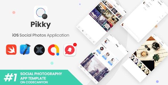 Pikky | iOS iPhone Instagram-like Social Media Application [XServer]