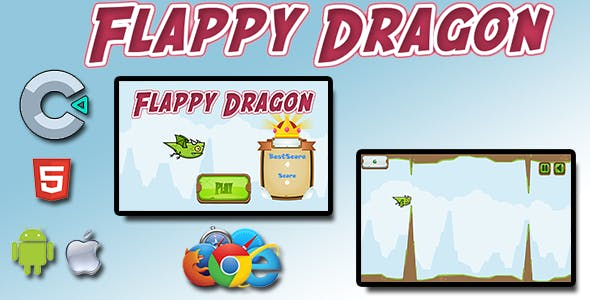 Flappy Dragon - HTML5 Mobile Game