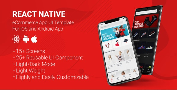 React Native Store UI Template - CodeCanyon Item for Sale