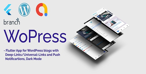 WoPress - Flutter App For WordPress News Sites and Blogs - CodeCanyon Item for Sale