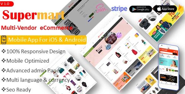 Supermart Multi-vendor e-commerce CMS