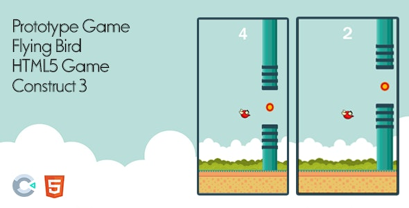 Prototype Game - Flying Bird - HTML5 Game Construct 3 - CodeCanyon Item for Sale