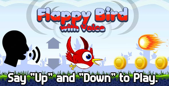 Flappy Bird with Voice (HTML5) Say Words to Play