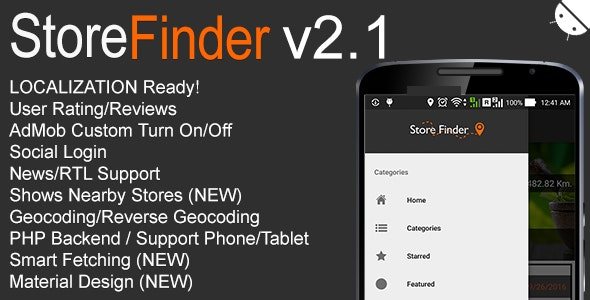 Store Finder Full Android Application v2.1 - CodeCanyon Item for Sale