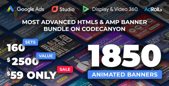YN Bundle - Most Advanced HTML5 Banner Bundle made with Google Web Designer