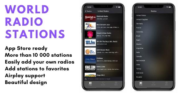 World Radio App - CodeCanyon Item for Sale