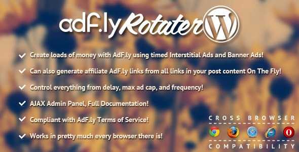 AdFly Rotater For WordPress - CodeCanyon Item for Sale