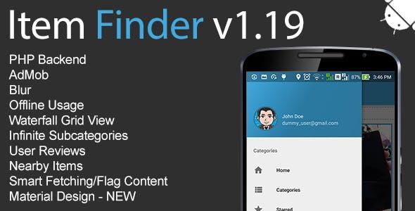 Item Finder MarketPlace Full Android Application v1.19