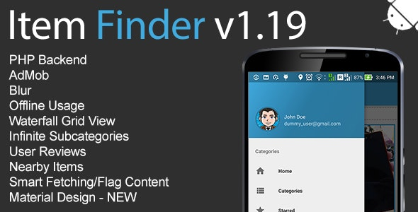 Item Finder MarketPlace Full Android Application v1.19 - CodeCanyon Item for Sale