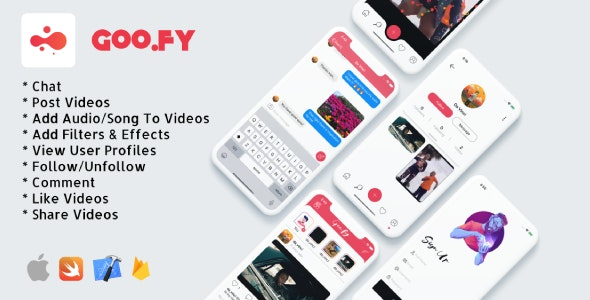 Goo.fy - iOS Video Sharing App - CodeCanyon Item for Sale