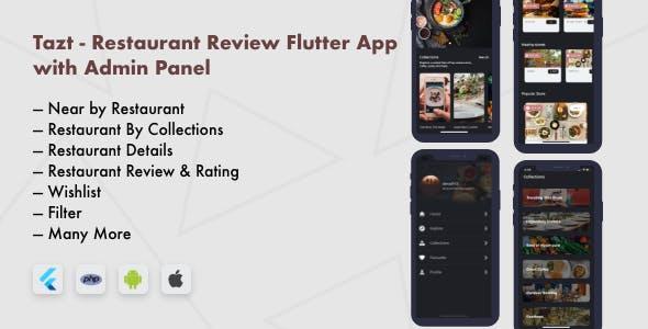 Restaurant Review Flutter App with Admin Panel