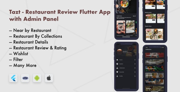 Restaurant Review Flutter App with Admin Panel - CodeCanyon Item for Sale
