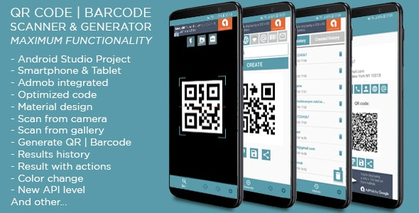 QR code & Barcode Scanner and Generator MAX + Admob ads - CodeCanyon Item for Sale