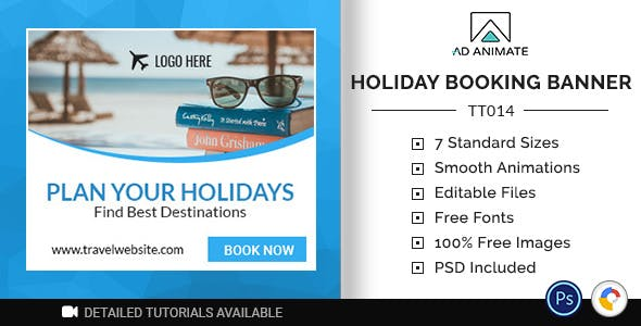 Tour & Travel | Holiday Booking Banner (TT014)