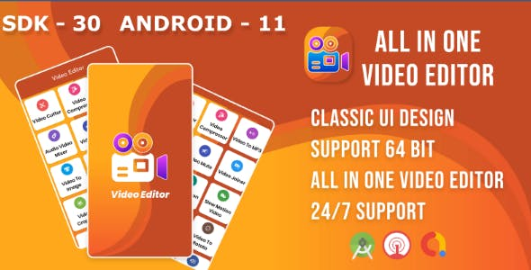 Video Editor(Android 11 Support) : Gif Maker ,Trim, Crop, Cut, video to photo