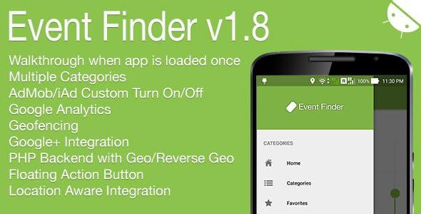 Event Finder Full Android Application v1.8