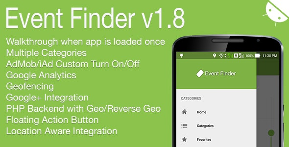 Event Finder Full Android Application v1.8 - CodeCanyon Item for Sale
