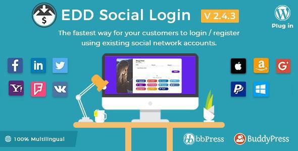 Easy Digital Downloads - Social Login - CodeCanyon Item for Sale