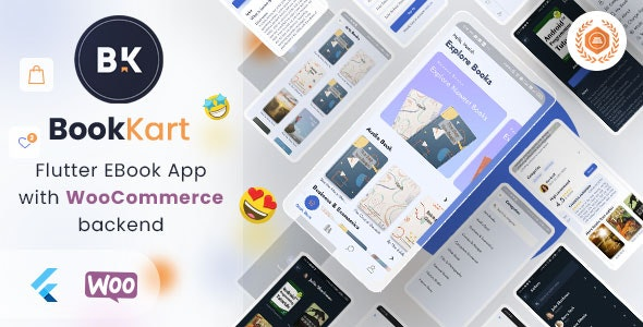 Bookkart: Flutter Ebook Reader App For Wordpress with WooCommerce - CodeCanyon Item for Sale