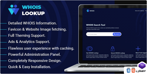 Whois Lookup - PHP Whois Script