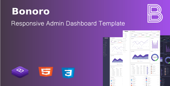 Bonoro - Responsive Admin Dashboard Template - CodeCanyon Item for Sale