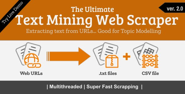 Text Mining Web Scraper