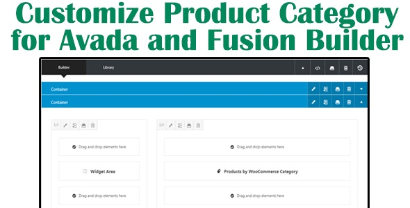 Customize Product Category for Avada and Fusion Builder - CodeCanyon Item for Sale