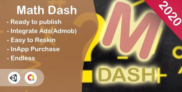 Math Dash (Unity Game+Admob+iOS+Android)