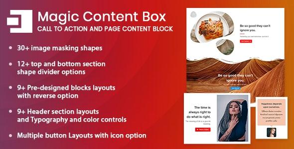 Magic Content Box Block for WordPress (Gutenberg) - CodeCanyon Item for Sale
