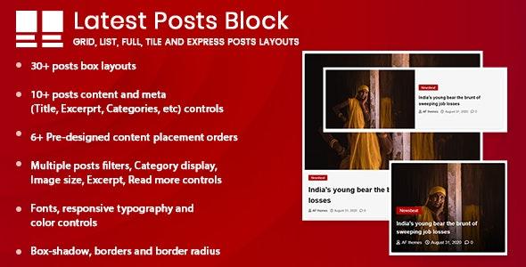 Latest Posts Block for WordPress (Gutenberg) - CodeCanyon Item for Sale