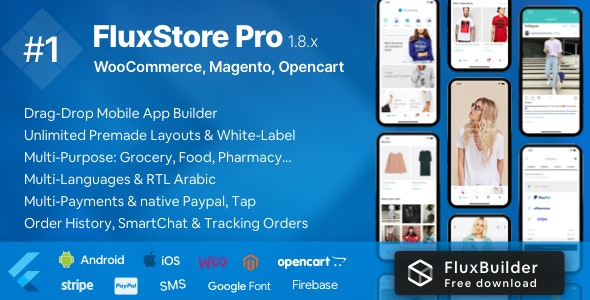 Fluxstore Pro - Flutter E-commerce Full App for Magento, Opencart, and Woocommerce - CodeCanyon Item for Sale