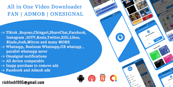 Total Video downloader| FAN | ADMOB | ONESIGNAL | INAPP Purchase