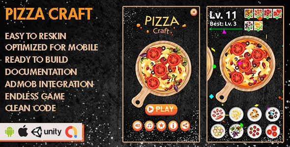 Pizza Craft - Unity Game - Android Hypercasual Game - CodeCanyon Item for Sale