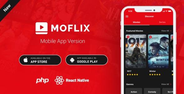 MoFlix Mobile App - React Native - Movies - TV Series