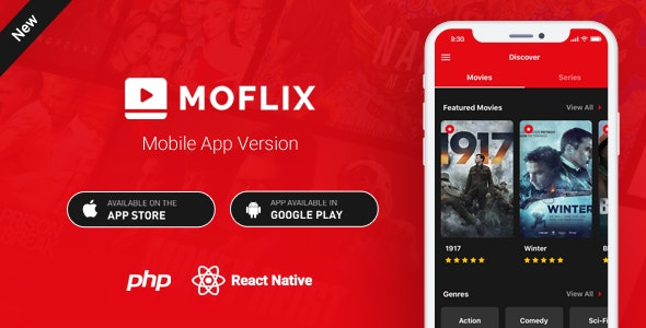 MoFlix Mobile App - React Native - Movies - TV Series - CodeCanyon Item for Sale