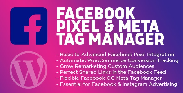 Facebook Pixel & Meta Tag Manager for WordPress - CodeCanyon Item for Sale