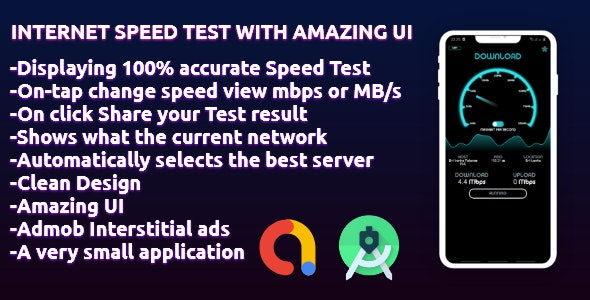 Internet Speed Test with amazing UI - CodeCanyon Item for Sale