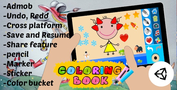 Coloring Book Kids Game | Unity Project With Admob for Android and iOS - CodeCanyon Item for Sale