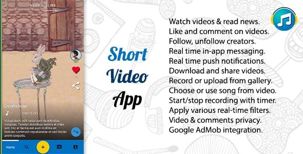 TakTak - Short Video Platform App - CodeCanyon Item for Sale