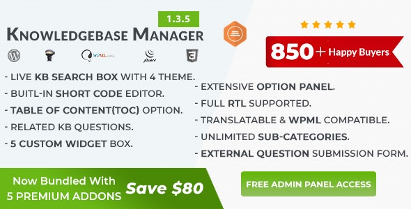 BWL Knowledge Base Manager - CodeCanyon Item for Sale