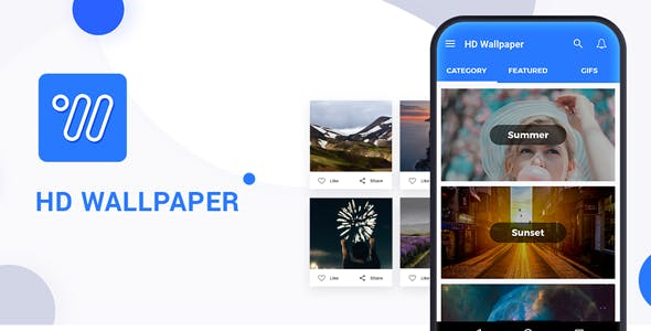 HD Wallpaper Android application with Admob