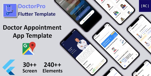 Doctor Appointment Booking Android App + Doctor Appointment iOS App Template Flutter | DoctorPro - CodeCanyon Item for Sale