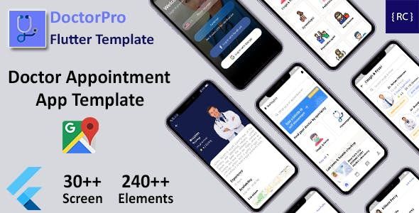 Doctor Appointment Booking Android App + Doctor Appointment iOS App Template Flutter   DoctorPro