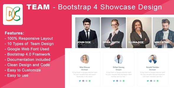 Team - Bootstrap 4 Team Members Showcase