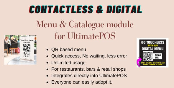Digital Product catalogue & Menu module for UltimatePOS