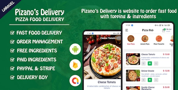 Pizano's Delivery: Unlimited pizza order Full Android Application - CodeCanyon Item for Sale
