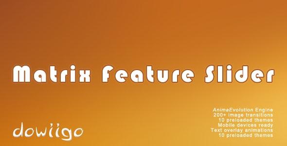 Matrix Feature Slider - jQuery plugin - CodeCanyon Item for Sale