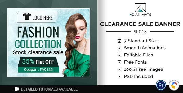 Shopping & E-commerce | Clearance Sale Banner (SE013)
