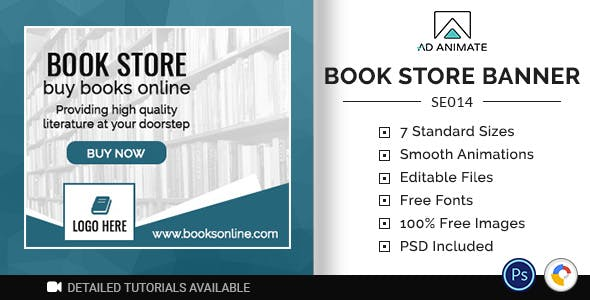 Shopping & E-commerce | Book Store Banner (SE014)