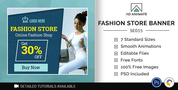 Shopping & E-commerce | Fashion Store Banner (SE015)